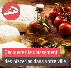 découvrez le classement des pizzerias dans votre ville