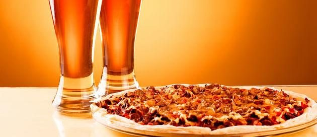 une pizza à la bière