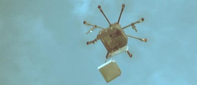 pizza livrée par drone