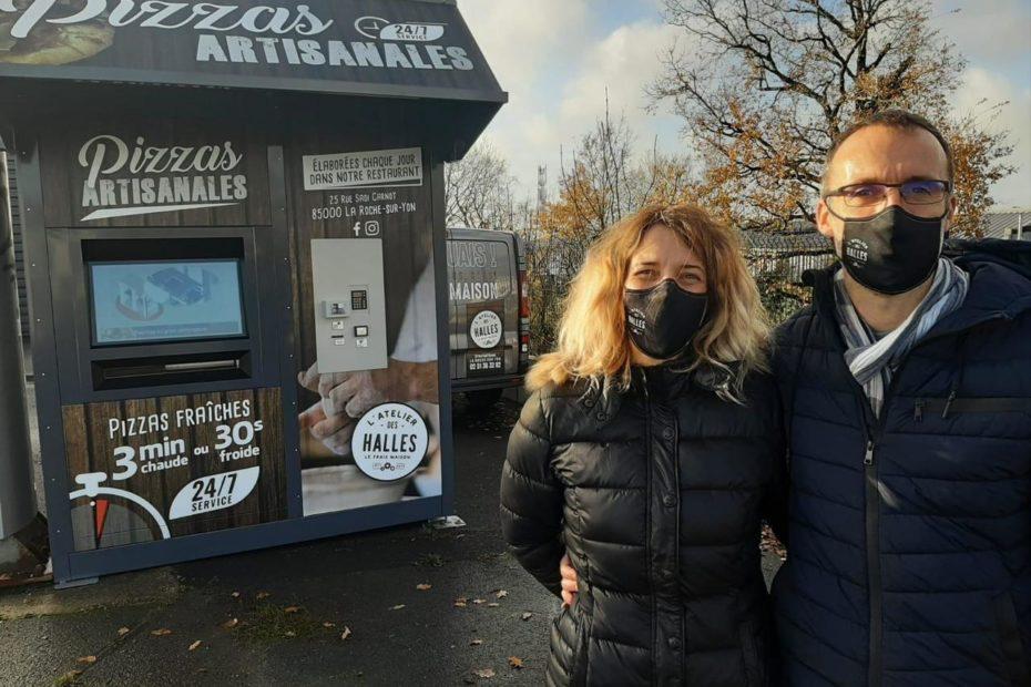 La Roche-sur-Yon: un distributeur de pizzas artisanales route de Nantes