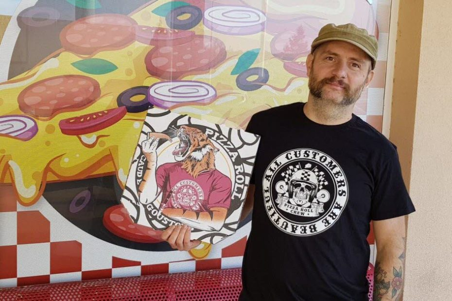 Ses boîtes à pizza signées par un artiste