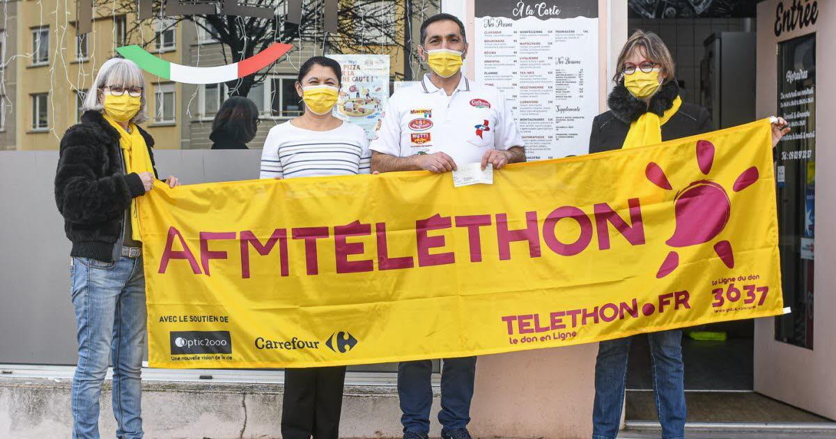 Téléthon: Atelier Pizza remet 478euros