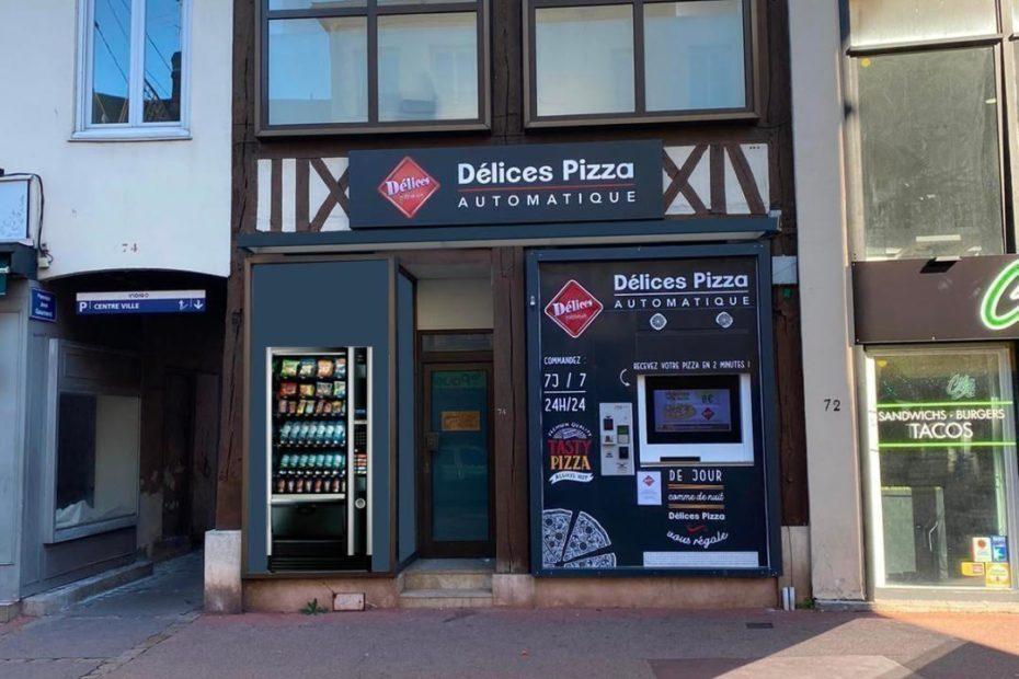 Elbeuf : un distributeur automatique de pizzas rue des Martyrs