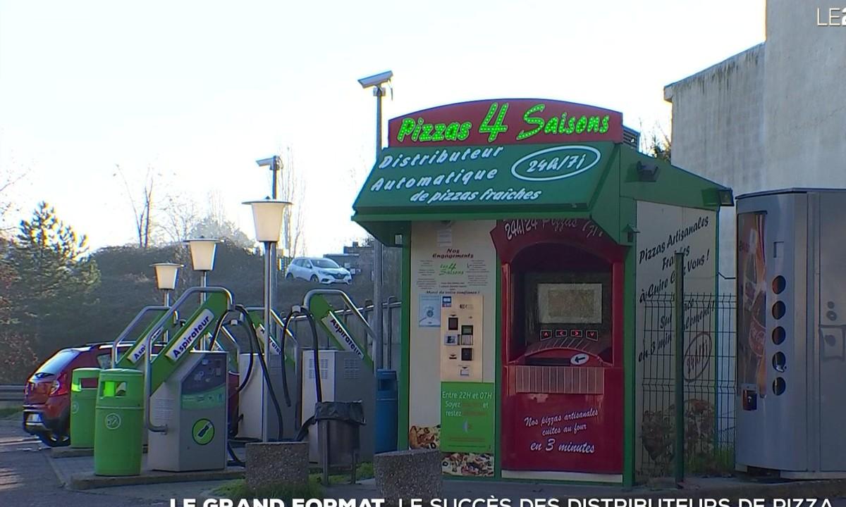 #TF1 – Le grand format : l'incroyable succès des distributeurs automatiques de pizza – Le journal de 20h