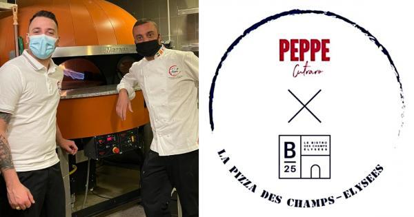Pizza by Peppe Cutraro sur les Champs-Elysées